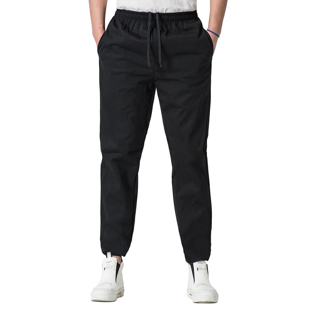 [HP3003] <BR> Black Diet Sweatpants Long Bottoms
