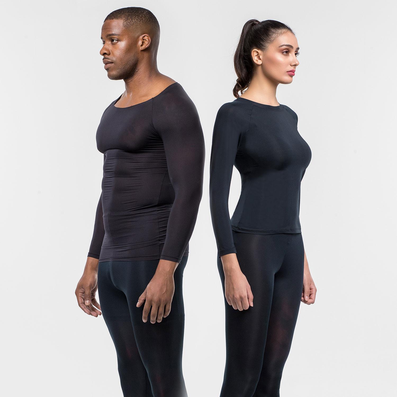 [US7004 / US7005] <BR> Underskin Black Unisex Inner wear Set
