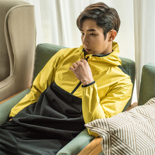 [HS6014] <BR> Pickam Wynferper Yellow Diet Sweatpants Set <br>