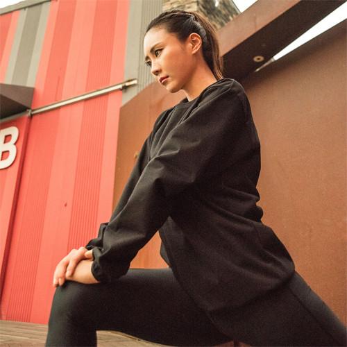 [HS6004] <BR> Z2 Round Black Diet Sweatpants Set