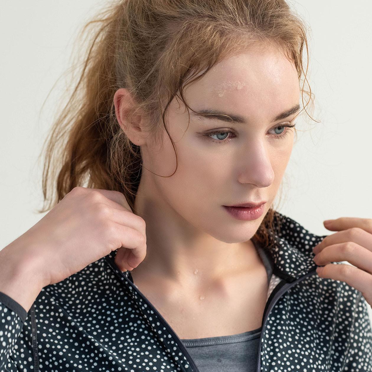 [PJK5007] <BR> Tight Pullover Black Yoga Sweatpants Jacket